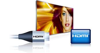 Sømløs tilkobling med 4 HDMI-innganger og EasyLink