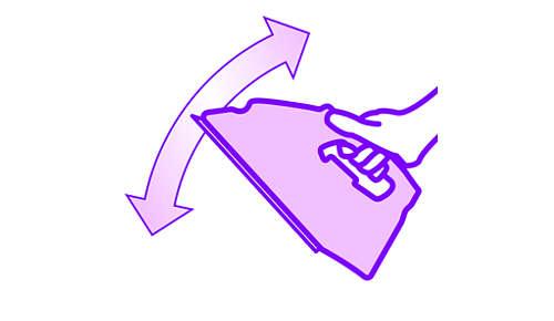Lichtgewicht strijkijzer waarmee u gemakkelijk over de strijkplank beweegt.