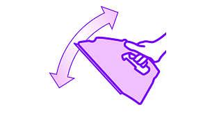 تمكّنك خفّة وزن المكواة من تحريك المكواة بسهولة على لوح الكوي أو في أي مكان آخر