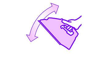 Leve para mover o ferro facilmente dentro e fora da tábua