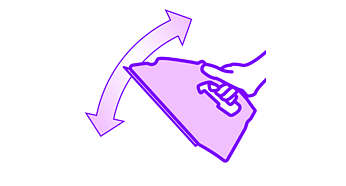 Leichtes Bügeleisen für eine einfache Handhabung nicht nur auf dem Bügelbrett