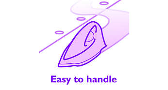 Optimal design to manoeuvre the iron easily over the garment