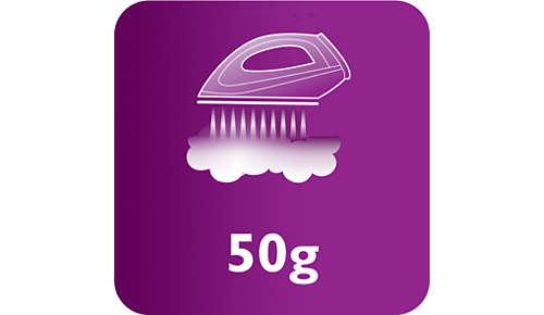 Vapor de hasta 50g/min para eliminar mejor las arrugas.
