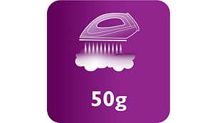 البخار المستمر لغاية 50 غ/دقيقة لإزالة مثالية للتجاعيد
