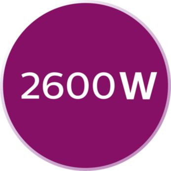 2600Вт для быстрого нагрева и мощного глажения
