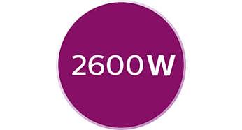 2600W para um aquecimento rápido e um desempenho poderoso