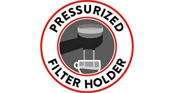 Portafiltro crema pressurizzato