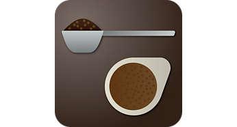 Geschikt voor gemalen koffie en pads