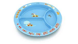 Divisórias de prato para separar os alimentos