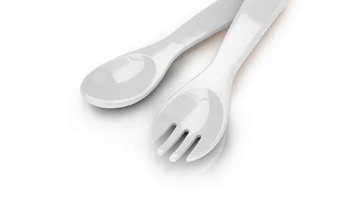 Deep scoop spoon and fork
