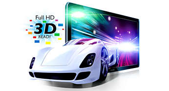Full HD 3D-klar* for en for en altoppslukende 3D-filmopplevelse