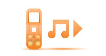 Écoute de fichiers musicaux MP3 et WMA
