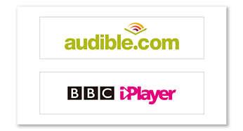 Более широкий выбор благодаря поддержке Audible и BBC iPlayer
