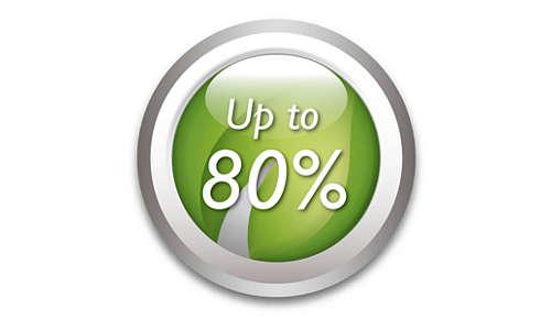 Sparar upp till 80% energi