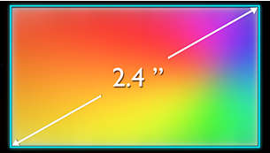 "6.1 cm (2.4"") QVGA 262K color TFT display for vivid graphics"