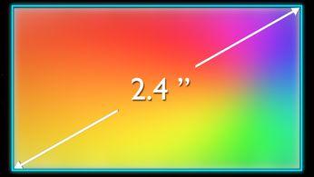 Canlı grafikler için 6,1 cm (2,4 inç) QVGA 262 K renkli TFT ekran