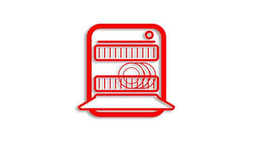 Vaatwasmachinebestendige onderdelen voor eenvoudig schoonmaken