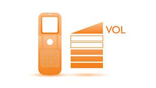 Indicador do volume de voz para um feedback de volume claro