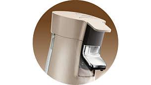 Com o reservatório de água extragrande removível, é possível reabastecer menos vezes