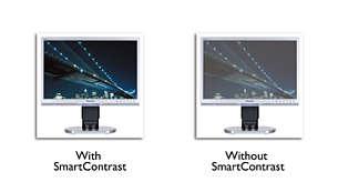 Tonos en negro con más matices gracias a SmartContrast 800.000:1