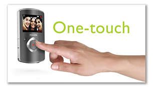 One-touch operation for instant capturing of great moments