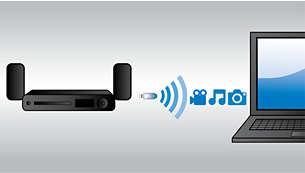 Wi-Fi integrato con Net TV per file multimediali e video