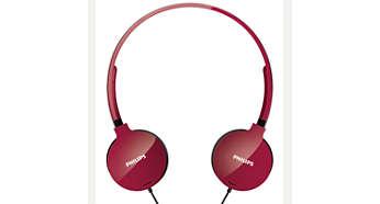 หูฟังสามารถพับเก็บได้แบนราบเพื่อให้คุณเก็บและพกพาได้ง่าย