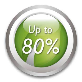 Säästää energiaa jopa 80%