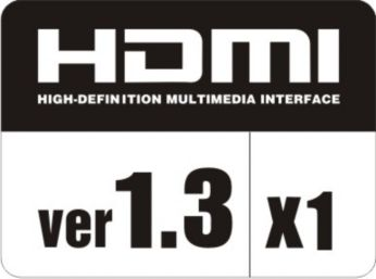 Seamless connectivity with 1 HDMI input