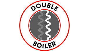 Double boiler to reduce waiting time