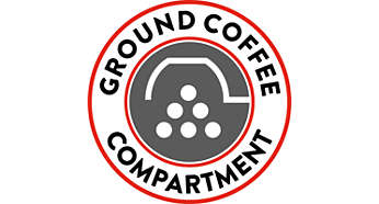 Ground coffee compartment for more variety in taste