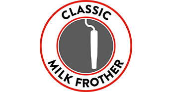 Classic milk frother for a tasty Cappuccino
