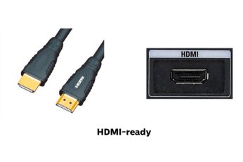 HDMI-ready for Full HD entertainment