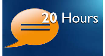 Up to 20 hours of talk time