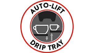 Auto-lift drip tray for ultimate convenience