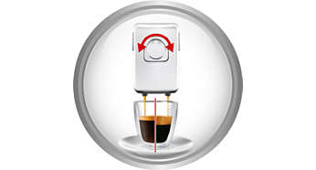 Patented adjustable espresso crema and body structure