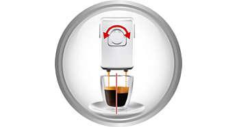 Patentierte Einstellungen für Crema- und Espressostruktur