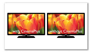 CinemaPlus for better, sharper and clearer images