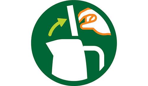 Klappeckel mit großer Öffnung zum einfachen Füllen und Reinigen