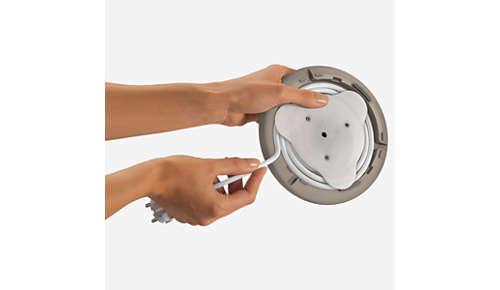 Dispositivo di avvolgimento cavo per una pratica custodia del ferro