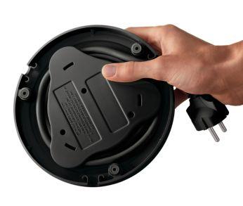 Място за навиване на захранващия кабел за лесно съхранение