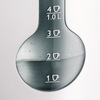 Индикатор за 1 чаша, за да кипвате само толкова вода, колкото ви трябва