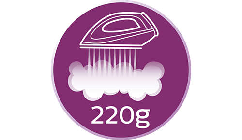 Steam boost up to 220 g