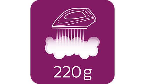 Colpo di vapore fino a 220 g