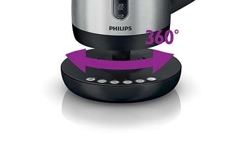 Snoerloze draaivoet van 360° voor eenvoudig optillen en plaatsen