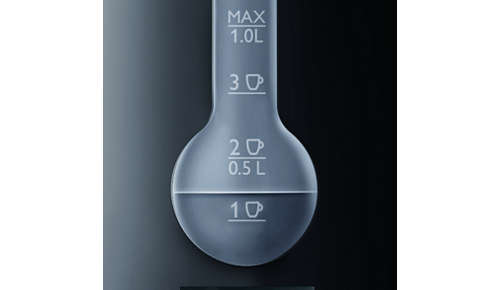 One cup indicator to boil only the water you need