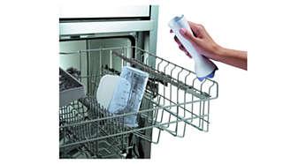 Tilbehør, der tåler opvaskemaskine