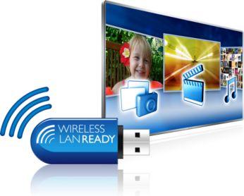 Einfache kabellose Verbindung mit optionalem USB-WiFi-Adapter
