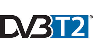 Integrated DVB-T2 tuner for HD reception without set top box