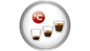 Ajustez l'intensité, la température et la longueur du café